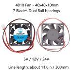 4010 Fan - Dual Ball bearing